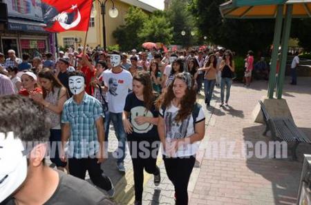 Taksim'de yaşananlara Tarsus'tan tepki