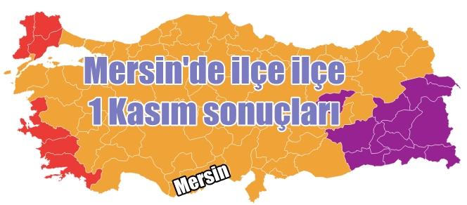 Mersin'in ilçelerinde 1 Kasım seçim sonuçları