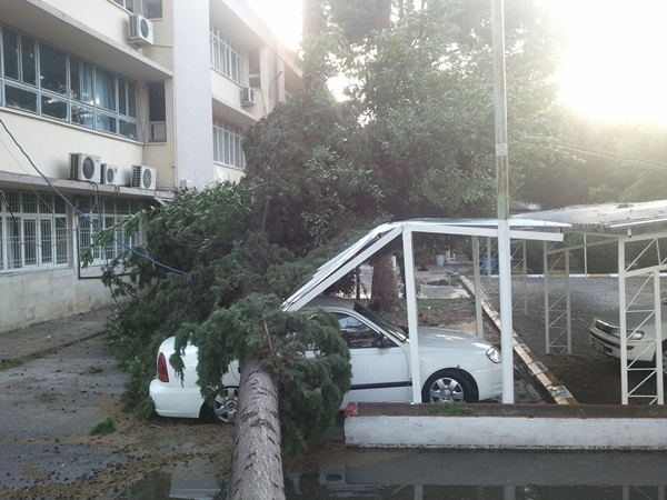 Tarsus'u fırtına vurdu (Foto Galeri)