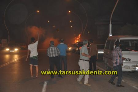 Tarsus'ta sokak eylemleri