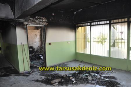 Tarsus Fen Lisesi Yakıldı