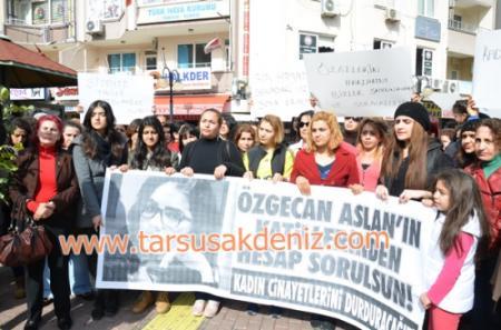 Özgecan Aslan cinayetine Tarsus'tan tepki