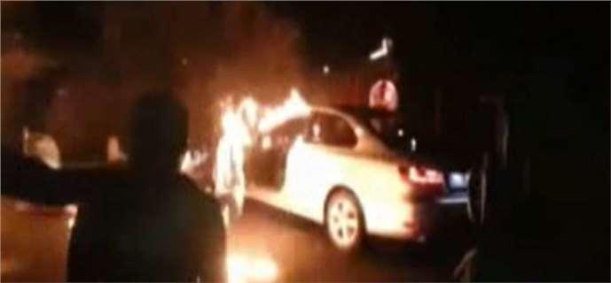 Tarsus eylemciler Jetta yaktı
