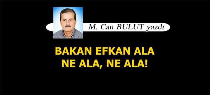 M. Can Bulut yazdı, ' Bakan Efkan Ala Ne Ala, Ne Ala!'