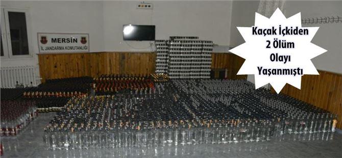 Jandarma'dan Çamlıyayla'da kaçak içki operasyonu