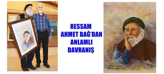 Tarsuslu Ressam Ahmet Bağ'dan Anlamlı Davranış