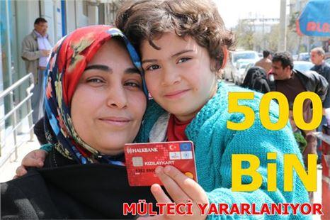 Kızılay Kart'tan yararlanan mülteci sayısı 500 bine ulaştı