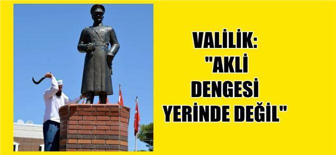Siverek'te Atatürk heykeline çirkin saldırı