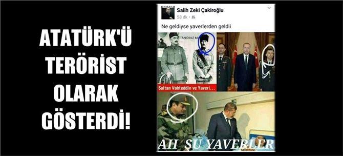 Atatürk'ü, FETÖ'cü yaverlerle bir tuttu!