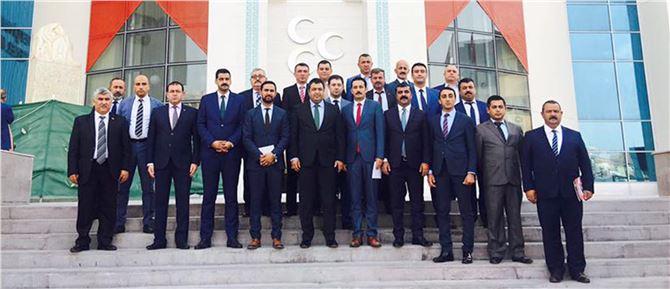 MHP'nin Mersin'deki teşkilat başkanlarından birlik görüntüsü