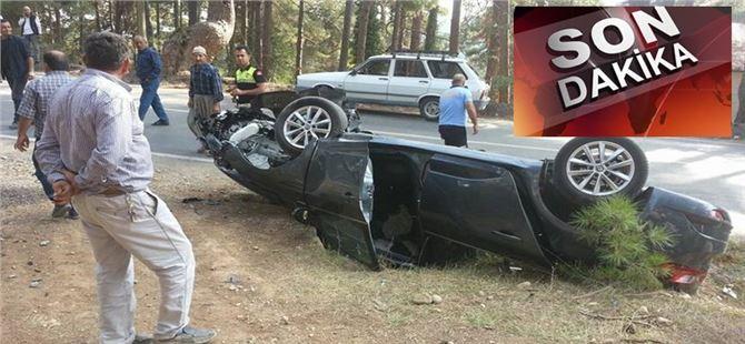 Çamlıyayla'da otomobil takla attı: 3 yaralı