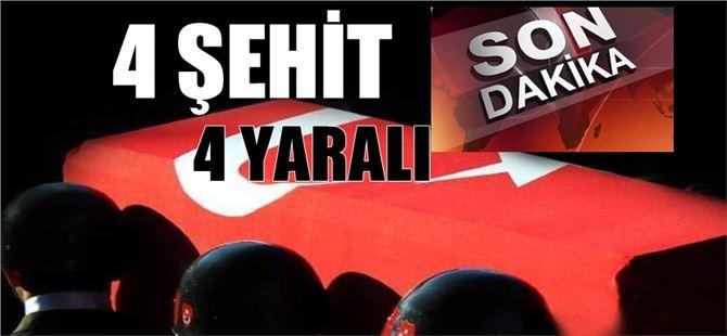 Hakkari'de hain saldırı 4 Şehit, 4 Asker yaralı