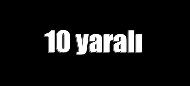 Mersin'de trafik kazası: 10 yaralı
