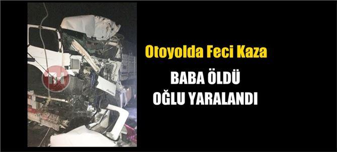 Tarsus'ta 3 tır'ın karıştığı kazada baba öldü, oğlu yaralandı