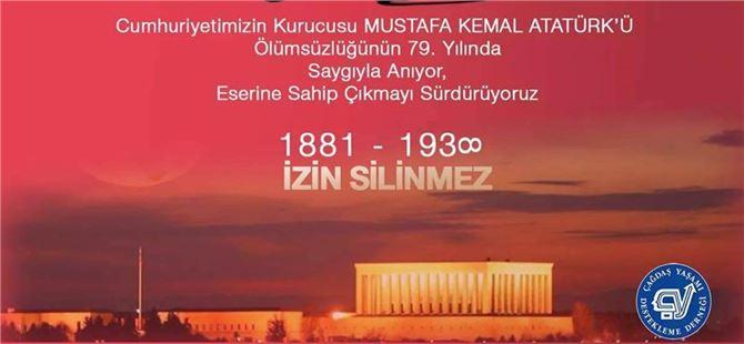 Tarsus ÇYDD'den 10 Kasım Mesajı