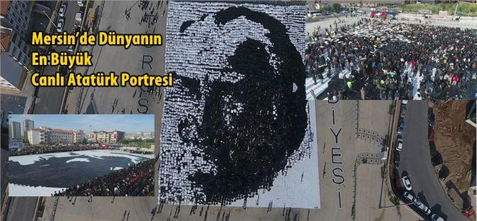 Mersin'de Dünyanın En Büyük Canlı Atatürk Portresi