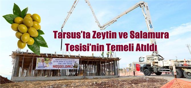 Tarsus'ta Zeytin ve Salamura Tesisi'nin Temeli Atıldı