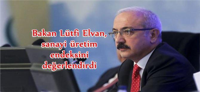Bakan Lütfi Elvan, sanayi üretim endeksini değerlendirdi