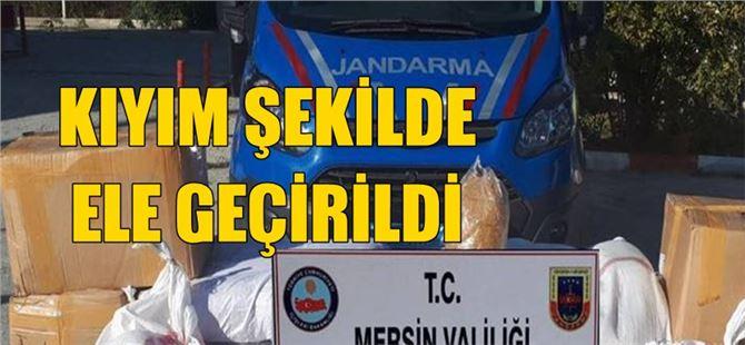 Tarsus'ta Özel Kargo Şirketi Aracında Kıyılmış Tütün Ele Geçirildi