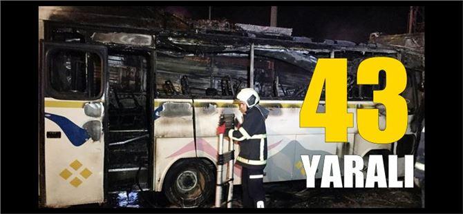 Adana'da tır, midibüse çarptı, alev aldı: 43 yaralı