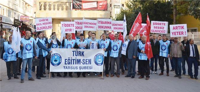 Tarsus Türk Eğitim-Sen'den Öğretmene Şiddete Hayır Eylemi