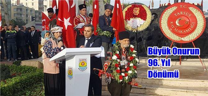 Tarsus'un Düşman İşgalinden Kurtuluşunun 96.'ncı yıldönümü törenlerle kutlandı