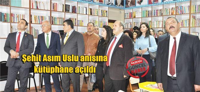 Tarsus Şehitishak ilkokulunda Şehit Asım Uslu anısına kütüphane açıldı