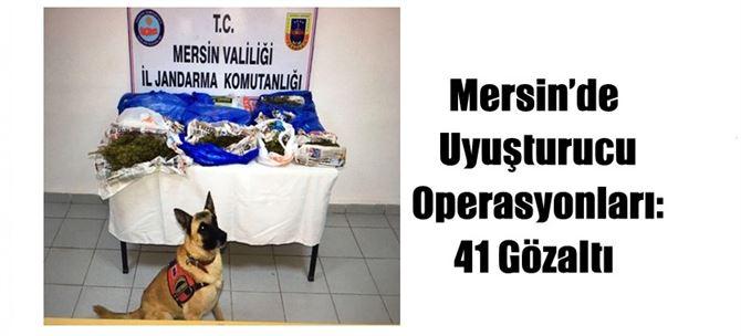 Mersin'de Uyuşturucu Operasyonları: 41 Gözaltı