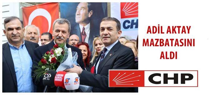 CHP Mersin İl Başkanlığına Seçilen Adil Aktay mazbatasını aldı
