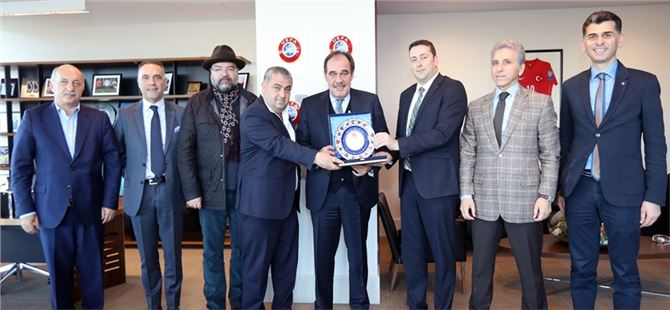 2 ve 3. Lig Kulüpler Birliği'nden Demirören'e ziyaret