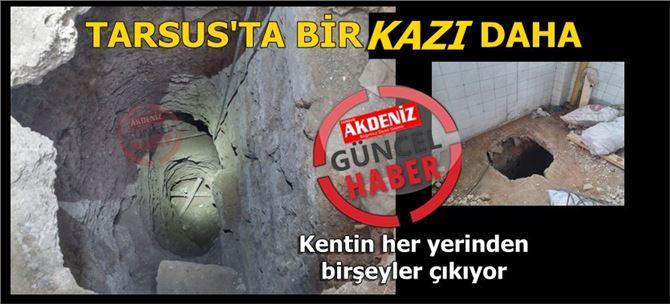 Tarsus'ta İşyeri İçinde Kaçak Kazı Operasyonu