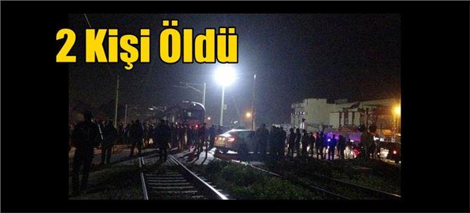 Tarsus yönüne gelen tren motosiklete çarptı: 2 ölü