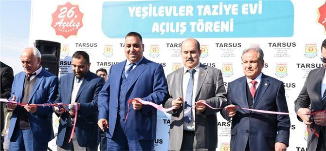 Tarsus Yeşilevler Mahallesi Taziye Evi Törenle Hizmete Açıldı