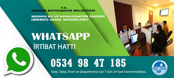 """MESKİ, 7/24 Hizmet Verecek """"(0) 534 984 7 185 Numaralı Whatsapp İletişim Hattı"""" Kurdu"""