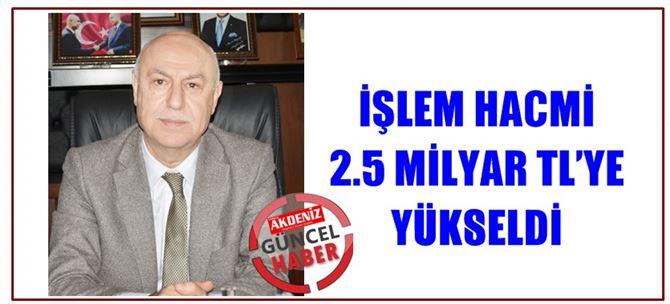 Tarsus Ticaret Borsası'nın İşlem Hacmi 2.5 Milyar TL'ye Yükseldi