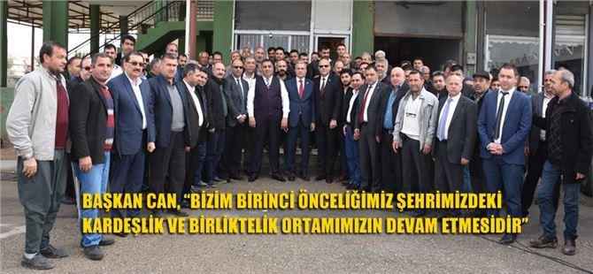 Başkan Can ve Milletvekili Şimşek, Hal Esnafıyla Bir Araya Geldi