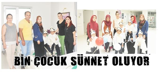 Tarsus'ta bin çocuk sünnet oluyor