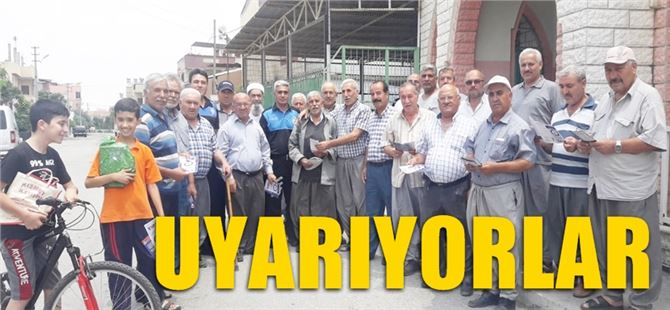 """Tarsus'ta Toplum Destekli Polislerden """"Boğulma Olaylarına"""" Karşı Broşür"""