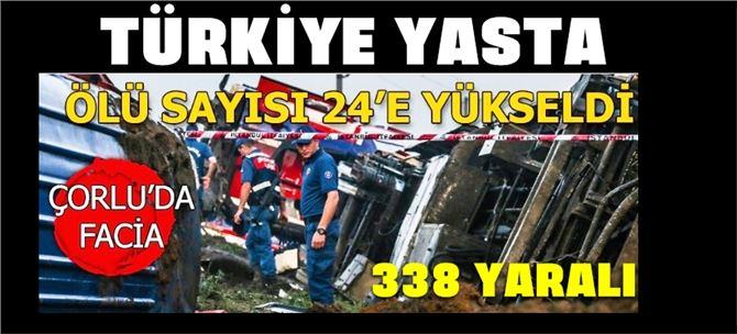 Tekirdağ Çorlu'da tren faciası