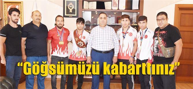 Başkan Can, şampiyonları ödüllendirdi