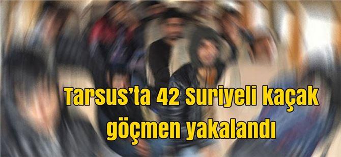 Tarsus'ta 42 Suriyeli kaçak göçmen yakalandı