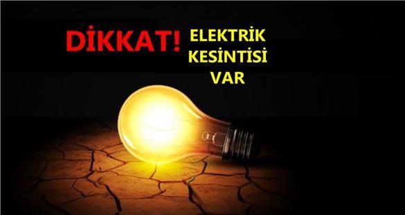 Tarsus'ta Cumartesi günü elektrik kesintisi