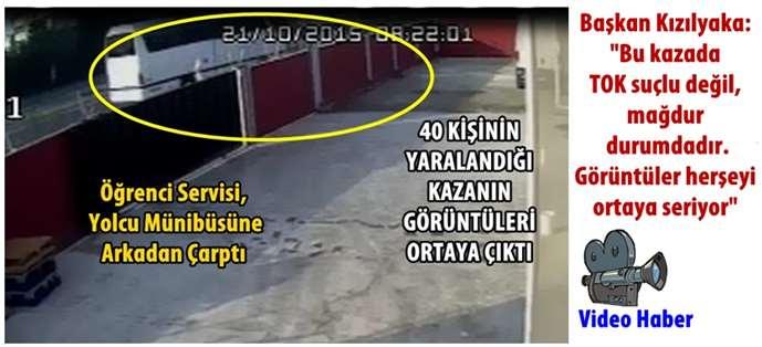 Adana-Tarsus arasında kaza: 40 yaralı (Video)
