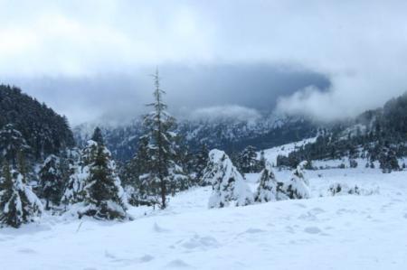Karboğazı'na kar düştü
