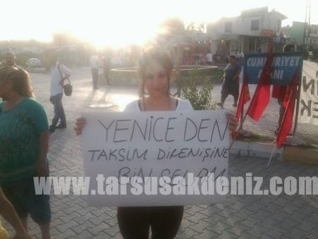Taksim olaylarına Tarsus'tan tepki-3