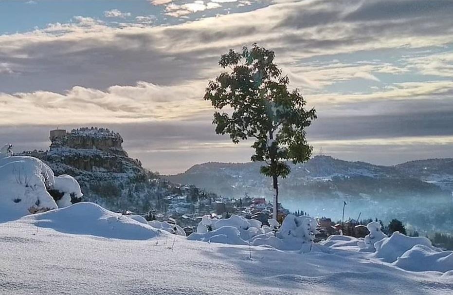 Çamlıyayla'dan muhteşem kar fotoğrafları