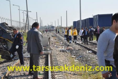 Mersin-Tarsus Arasında Tren Kazası
