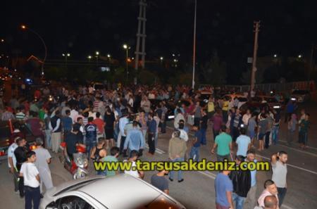 Tarsus'ta vatandaşlar sokağa indi