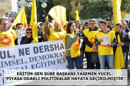 Eğitim-Sen'den Tarsus'ta Hükümete Protesto