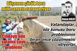 Tarsus Cinköyü'nde sulama suyu problemi
